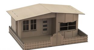 House with fence to cnc mdf cut