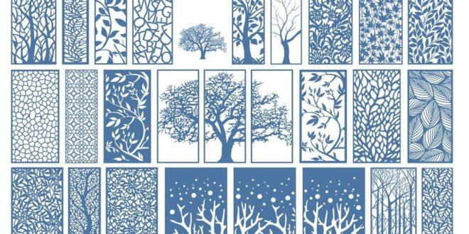 Pack cdr vectors floral decorative panels
