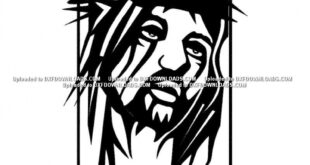 Free 2d vector jesus wall panel decor religious