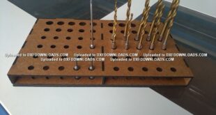 Free laser cut 3mm drill organizer