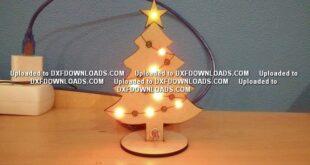 Christmas tree decoration Free cut file
