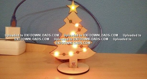 Christmas tree decoration Free cut file