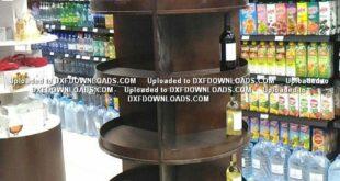 Bottle shelf free plan to maker on cnc CDR File