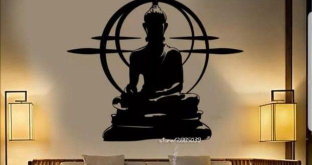 Vinyl Wall Sticker BuddhaMandala Mantra Chakra Meditation