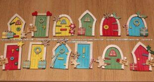 Free Set laser cut christmas doors for decoration