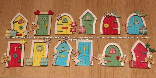 Free Set laser cut christmas doors for decoration