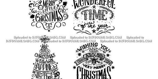 Christmas and New Year Letterings Free SVG