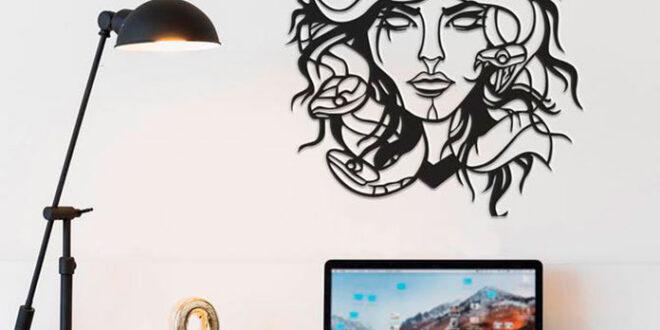 Medusa vector wall decor