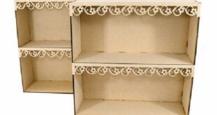 Party Table Shelf Wood File to Cut