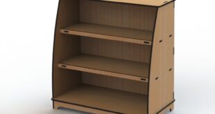 MDF Cut Furniture Plan Cnc Rack Shelf 9mm + 6mm