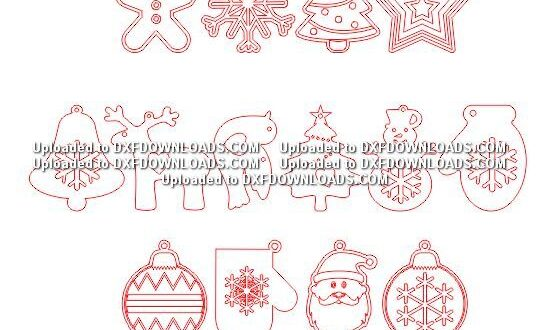 Pack Free laser cut items for christmas decoration