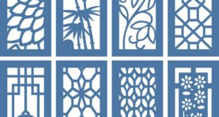 Collection of doors or panels for cutting file CDR DXF