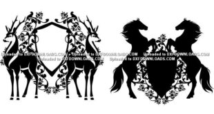 horses shields vector free
