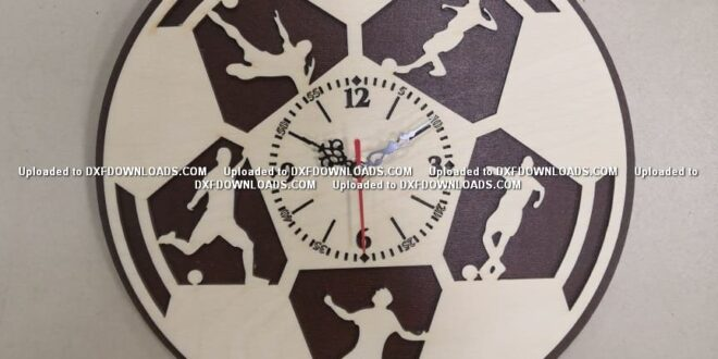 football wall clock free artcam vcarve vectric aspire deskproto