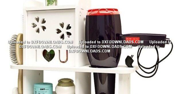Free hair dryer shelf dxf plan to cnc