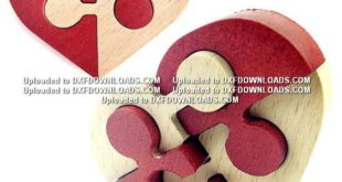 Wooden heart puzzle free