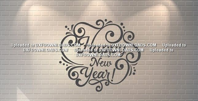 Happy New Year SVG DXF Free Vector