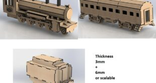 Old locomotive train CDR Laser Cut Design