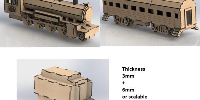 Old locomotive train CDR Laser Cut Design