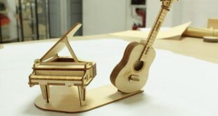 Free laser cut Miniature musical instrument layout for music lovers