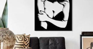 Woman wall frame sticker file vector to cut