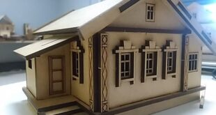 Laser Cut 1/43 Russian rural house 3mm plywood