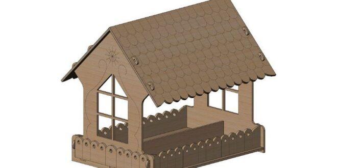 Bird feeder 4 mm plywood layout