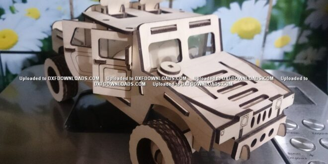 Free military car for laser cutting