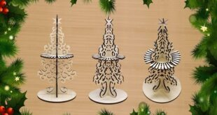 Wood Laser cut Christmas tree napkin ring