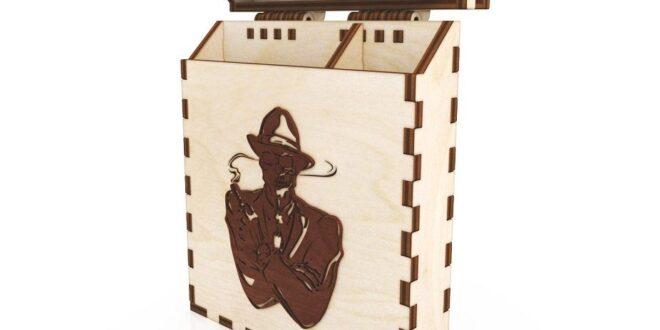 Laser cut Cigarette box 3mm plywood