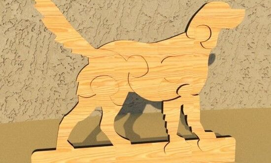 Dog Puzzle wooden toy