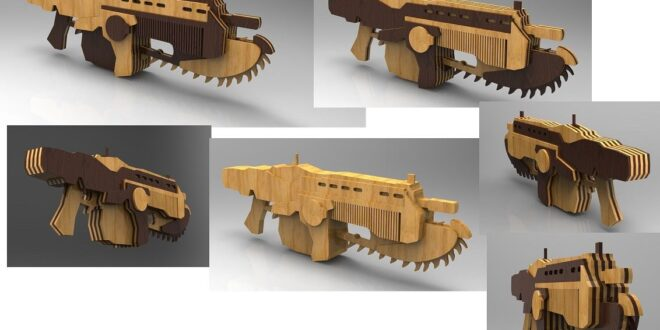Lancer Gears Of War Weapon Laser Cut
