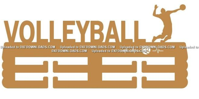 Free laser cut Volleyball medal