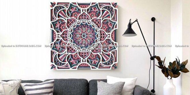 Free Multilayer flower Wall Mandala