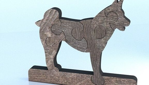 Puzzle dog 2 cnc cut vector cdr dxf