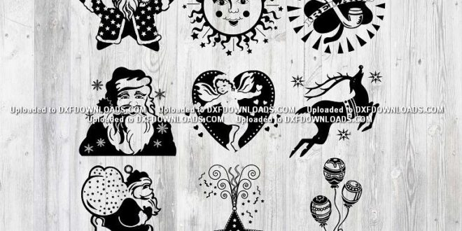Free Silhouette SVG christmas patterns 1