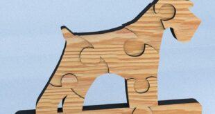 Laser Cut Schnauzer Puzzle dog
