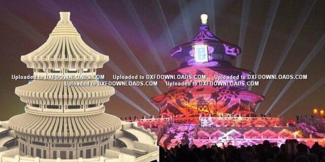 Free cnc plasma vector Temple of Heaven in Beijing