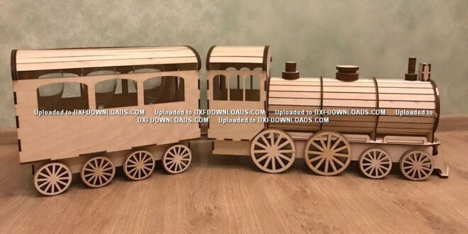 Wooden Train Laser Cutting CNC File Free