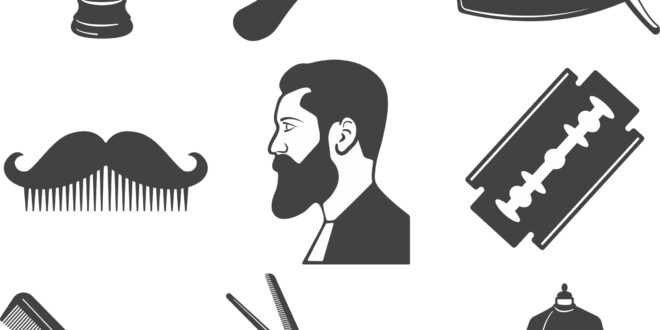 Free vector barber elements set SVG