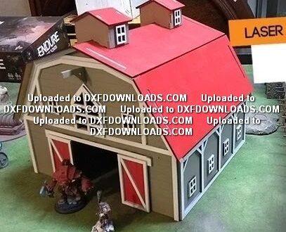 big barn house laser cut free