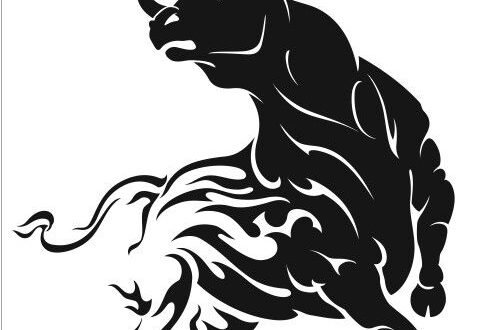 Bull Silhouette Symbol of the New Year Year
