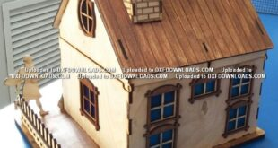 dxf crd laser model drawing House