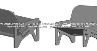 DWG drawings free plywood chair armchair