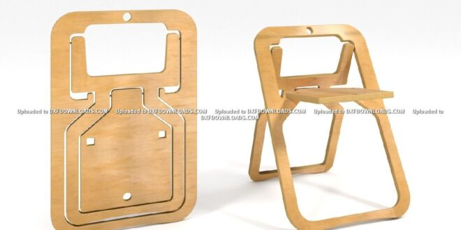folding chair single plate free cnc plan