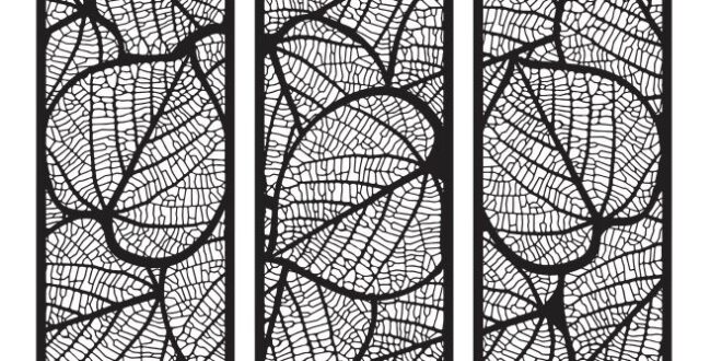 Set 3 frames of dry leaves Vector to Cut CDR DXF