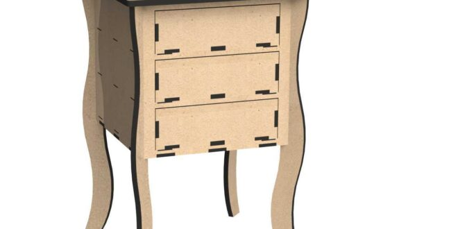 Cabinet Furniture 3 drawers 15mm + 9mm + 3mm
