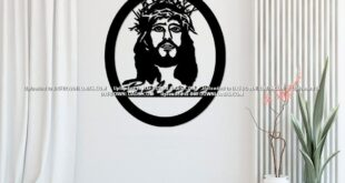 Free jesus silhouette vector to cut