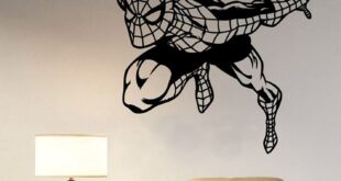 Silhouette spider man sticker cut decor CDR DXF