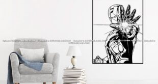 Free Iron man wall sticker vector download